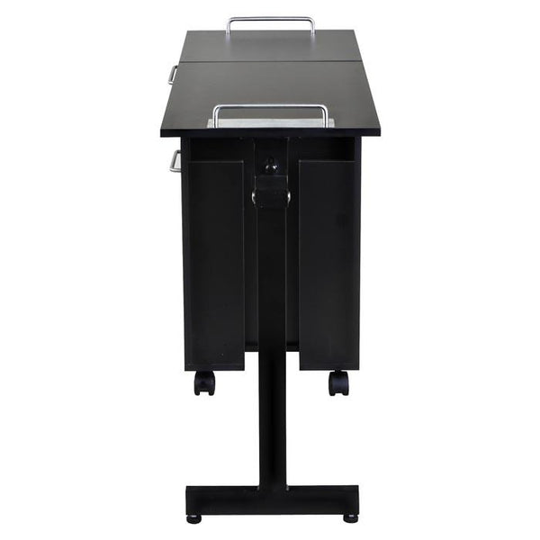 """Exceptional"" Black Manicure Nail Table Station Manicure Tables Icarus"
