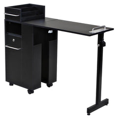 """Exceptional"" Black Manicure Nail Table Station"