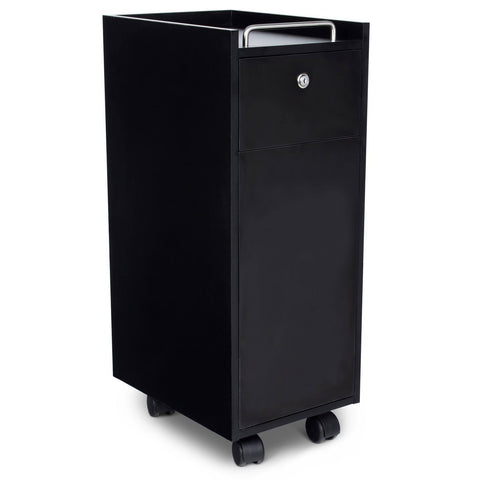 """Bucca"" Black Beauty Salon Rolling Storage Trolley Cart"