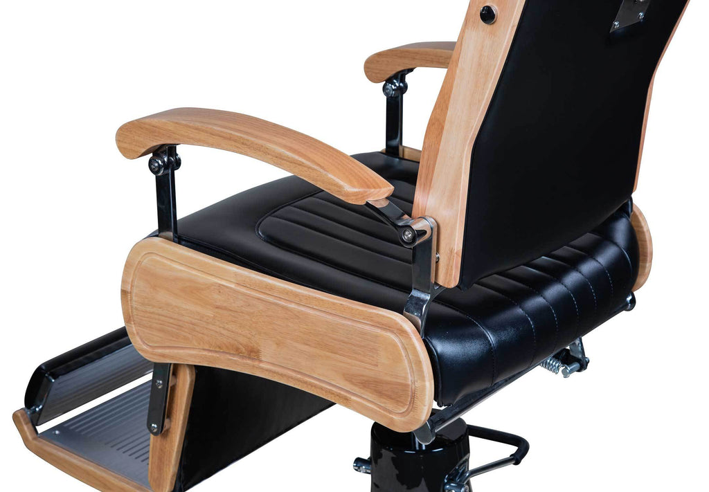Icarus Quot Wilson Quot Modern Black Barber Chair With Heavy Duty