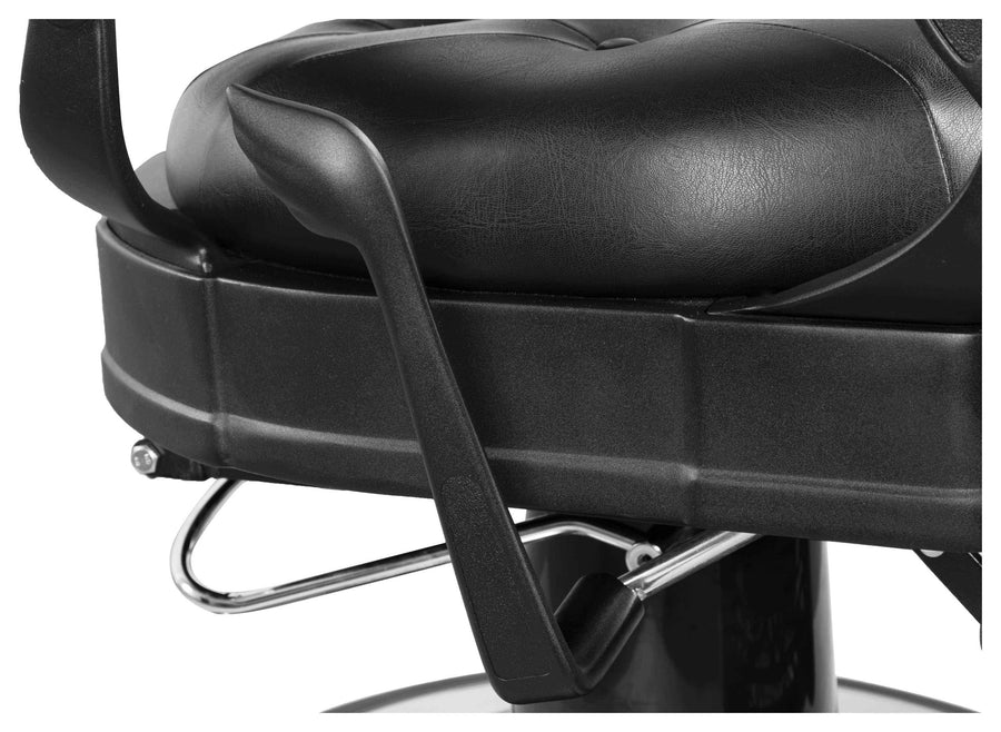 "Icarus ""Van Buren"" Vintage Reclining Barber Chair, Gun Metal Barber Chairs Icarus"