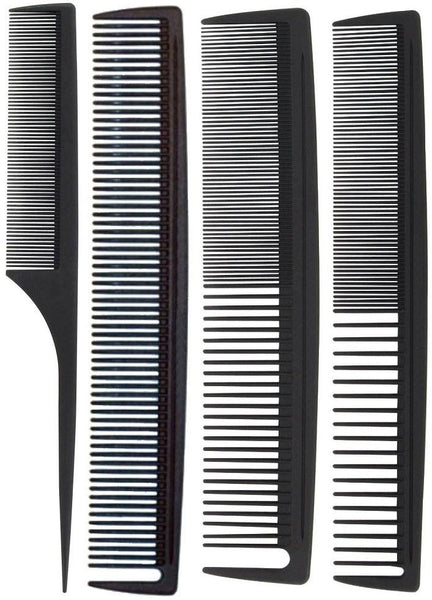 Hair Tamer Carbon Stylist Comb Variety 4 Pack Hair Combs & Picks Hair Tamer
