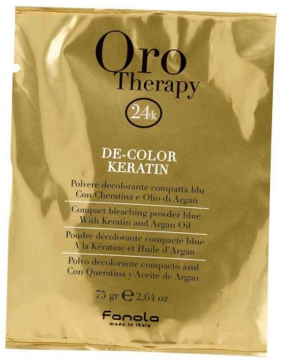 Fanola Oro Gold Therapy Bleaching Powder, 75 gr x 1 Packette Hair Color Bleaches Fanola