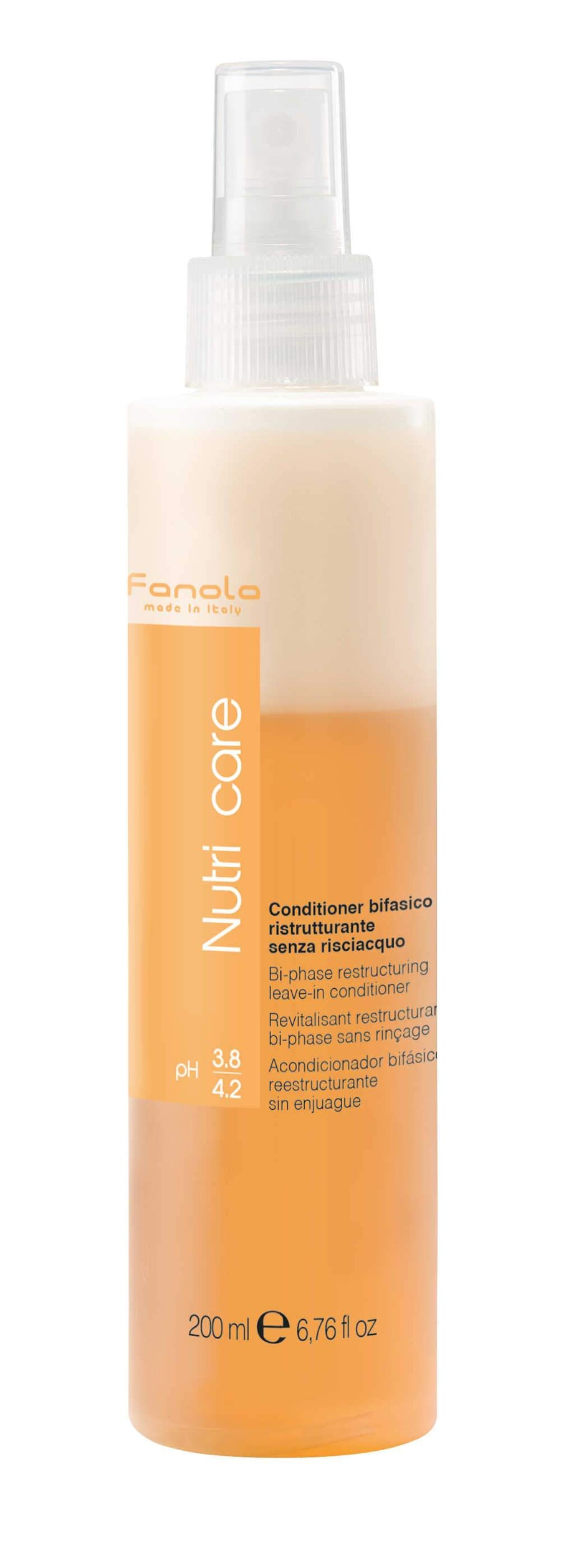 Fanola Nutri Care Bi-Phase Restructuring Leave-In Conditioner, 200ml Hair Treatments Fanola