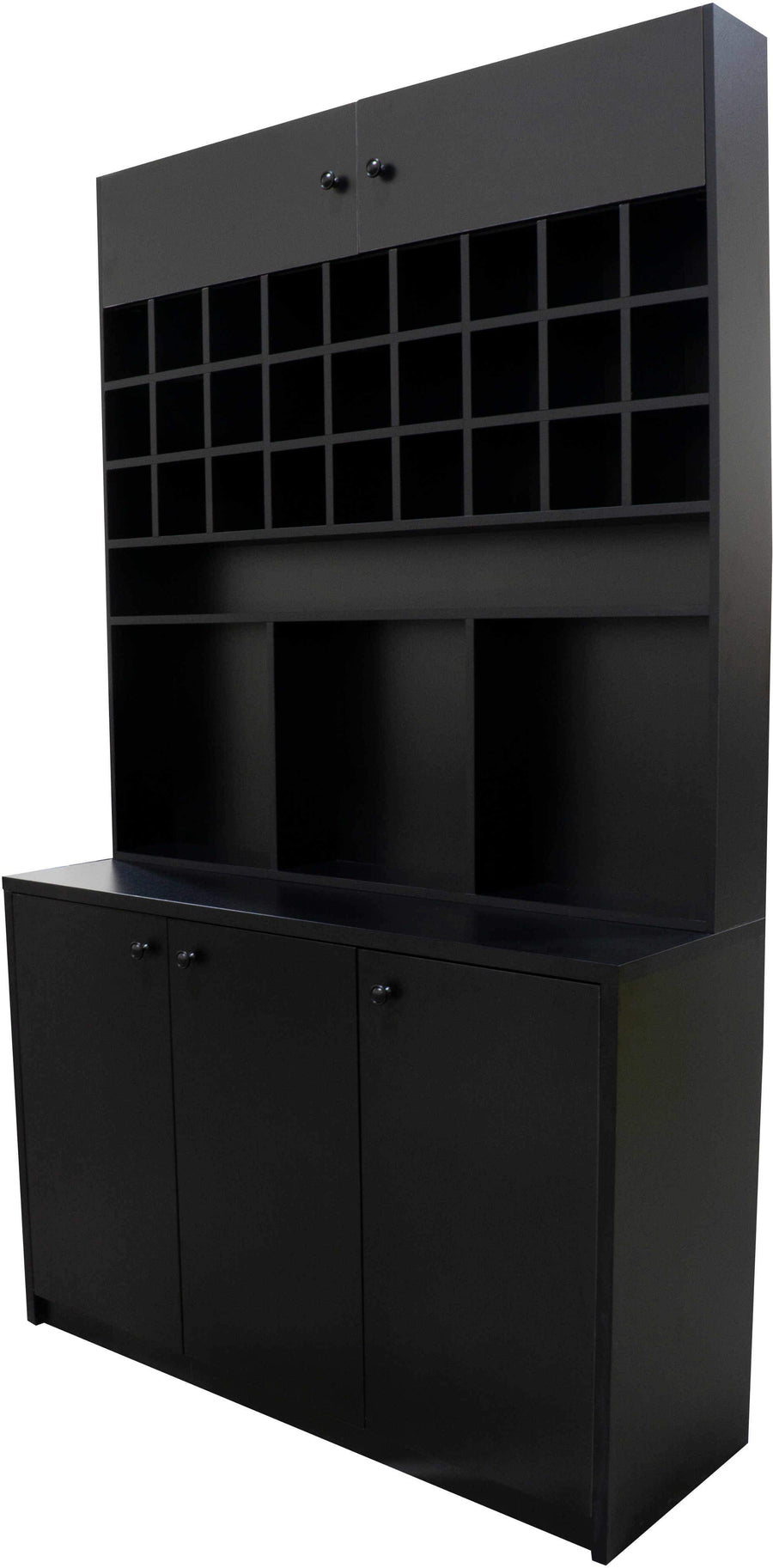 Icarus Black Color Bar with Wood Top Shampoo Furniture & Cabinets Icarus