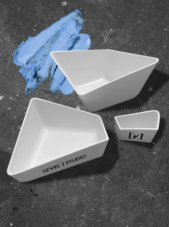 ORIGAMI! Colorist Stacked Bowls (3 in 1) Hair Coloring Tools Level 1 Studio