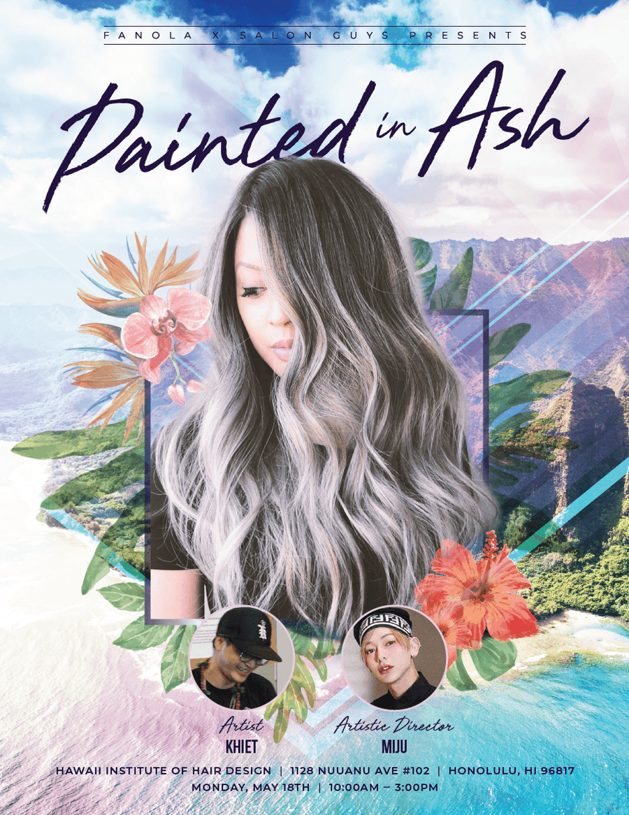 Painted in Ash Collab with Khiet and James 5/18/2020 Hair Shampoos Fanola