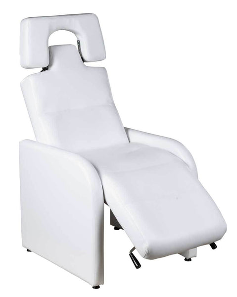 "Icarus ""Emma"" Reclining Lash Chair Facial Beds Icarus White"