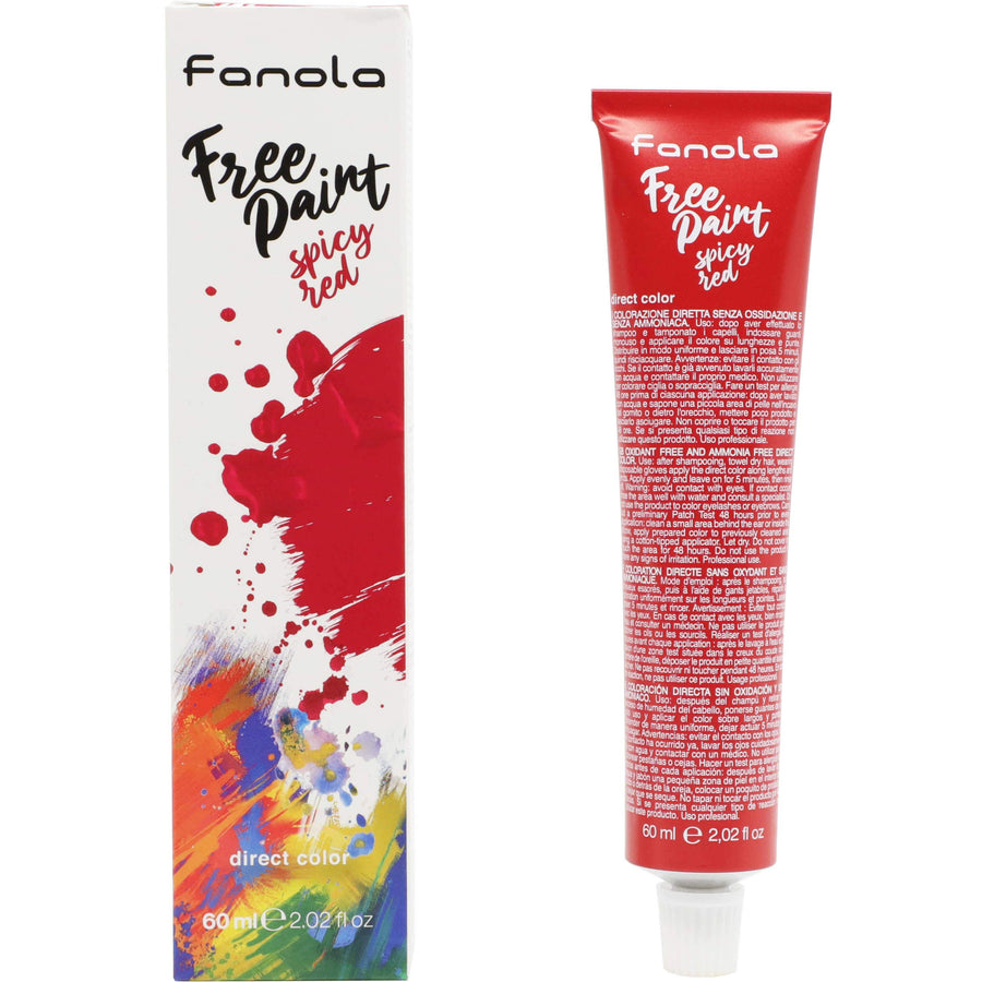 Fanola Free Paint Direct Colour, 60ml Permanent Hair Coloring Fanola Spicy Red