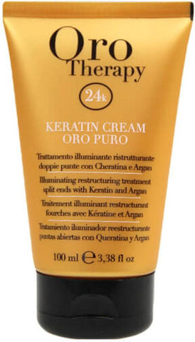 Fanola Oro Puro Keratin Cream Argan Oil, Split Ends, 100 ml