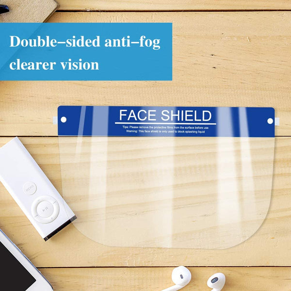 Face Shields Clear Plastic Protective - 10PK Salon Guys