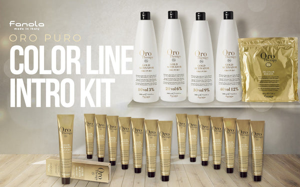 Fanola Oro Puro Color Line Into Kit Permanent Hair Coloring Fanola