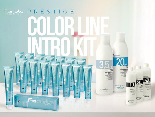 Fanola Prestige Color Line Intro Kit Permanent Hair Coloring Fanola
