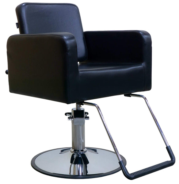 "Icarus ""Piney"" Black Reclining Multi-purpose Salon Styling Chair Styling Chairs Icarus Circle"