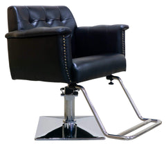"Icarus ""Nichols"" Black Cushioned Salon Styling Chair Styling Chairs Icarus Square"