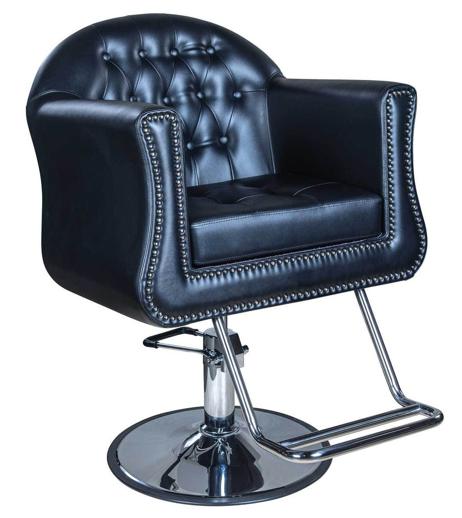 Icarus  Young  Black Beauty Salon Styling Chair Round Base Styling Chairs Icarus  sc 1 st  Salon Guys & Icarus