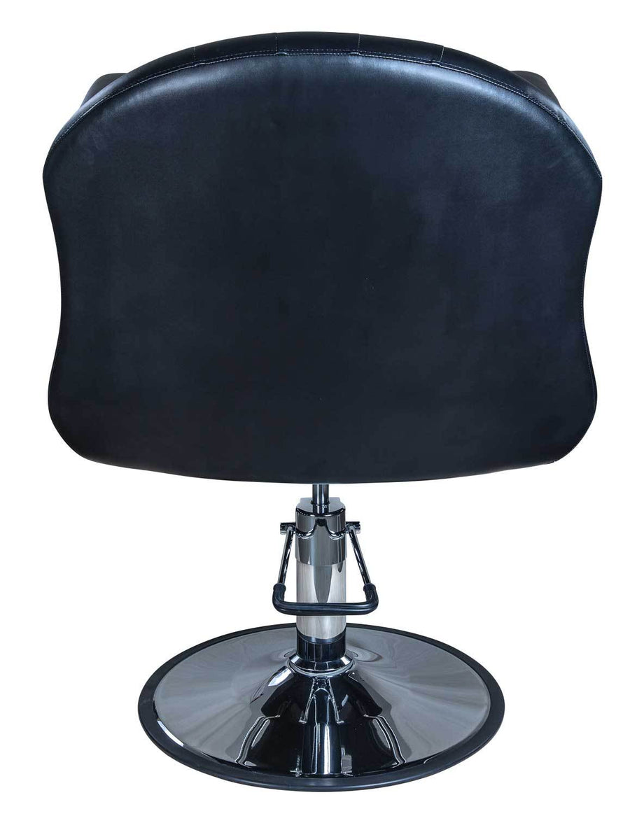 "Icarus ""Young"" Black Beauty Salon Styling Chair, Round Base Styling Chairs Icarus"