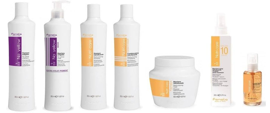Fanola No Yellow & Nutri Care Retail Package Hair Treatments Fanola