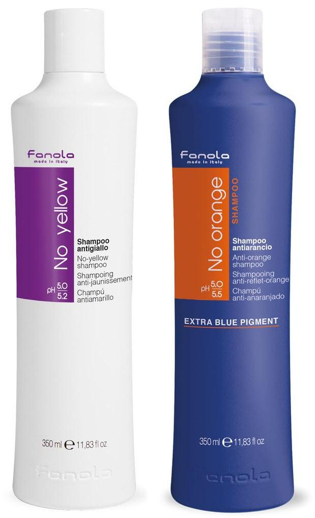 Fanola No Yellow and No Orange Shampoo Package Hair Shampoos Fanola 350 ml