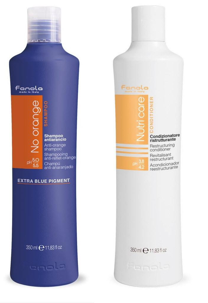 Fanola No Orange and Conditioner Package Hair Shampoos Fanola 350 ml