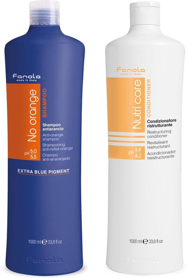 Fanola No Orange and Conditioner Package Hair Shampoos Fanola 1000 ml