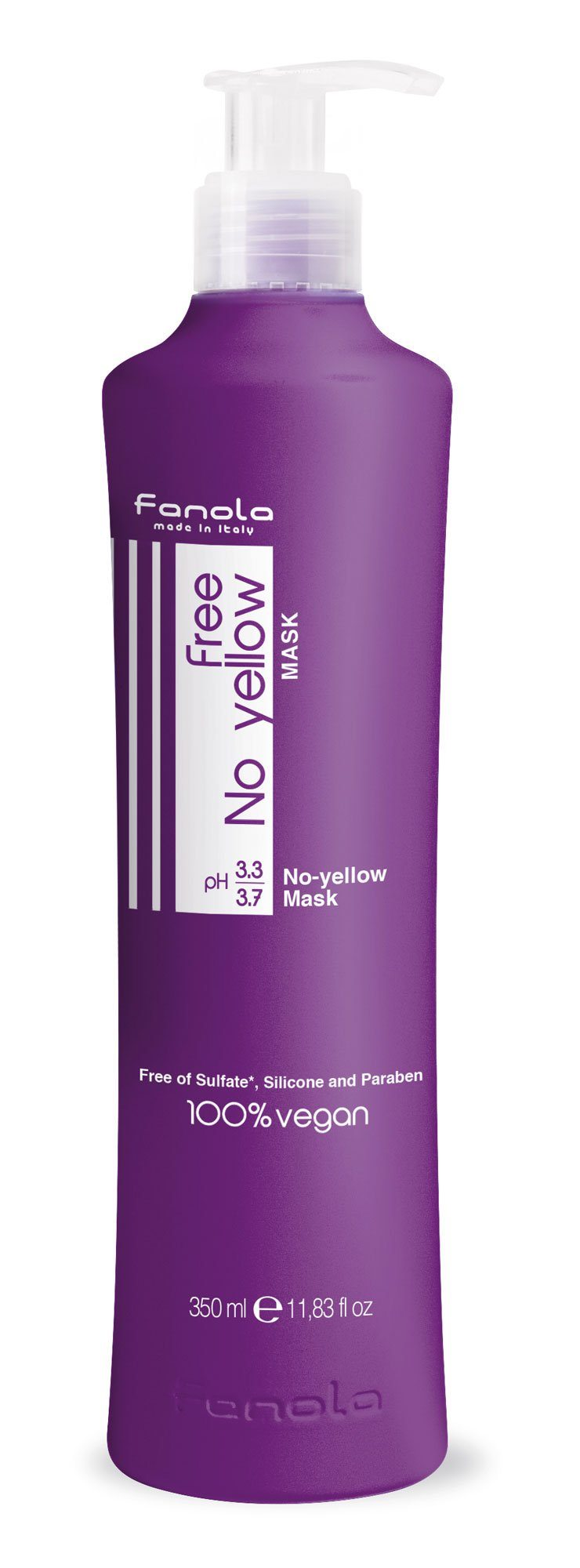 Fanola Free No Yellow Vegan Shampoo or Mask Hair Shampoos Fanola Mask, 350 ml