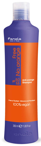 Fanola Free No Orange Vegan Shampoo or Mask Hair Shampoos Fanola Shampoo, 350 ML