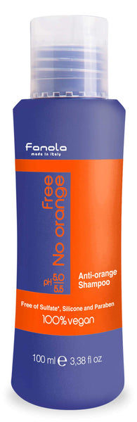 Fanola Free No Orange Vegan Shampoo or Mask Hair Shampoos Fanola Shampoo, 100 ML