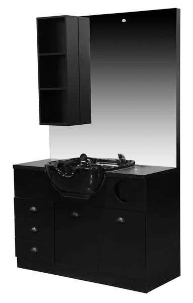 "Icarus ""Etta"" Shampoo And Salon Station Cabinet with Bowl Shampoo Furniture & Cabinets Icarus"