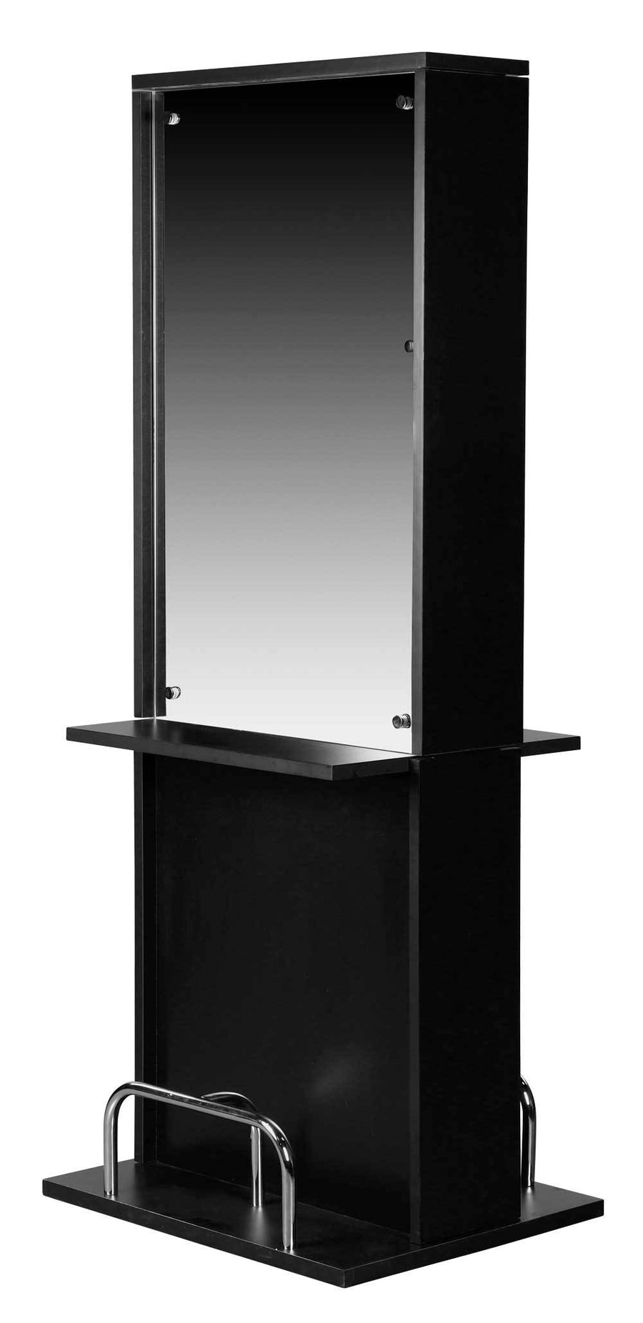 "Icarus ""Libby"" Black Salon Styling Station With Mirror Styling Stations & Cabinets Icarus Double"