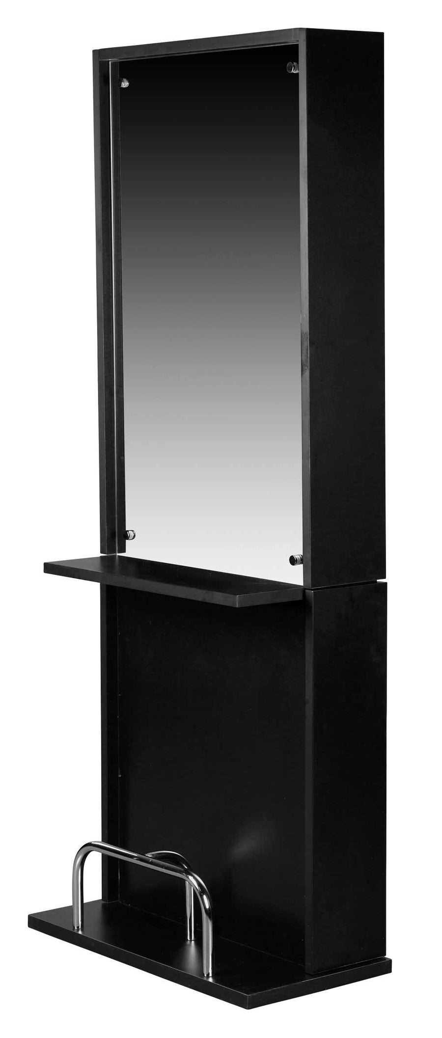 "Icarus ""Libby"" Black Salon Styling Station With Mirror Styling Stations & Cabinets Icarus Single"