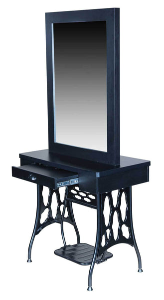 "Icarus ""Logan"" Double Sided Salon Styling Station with Mirror"