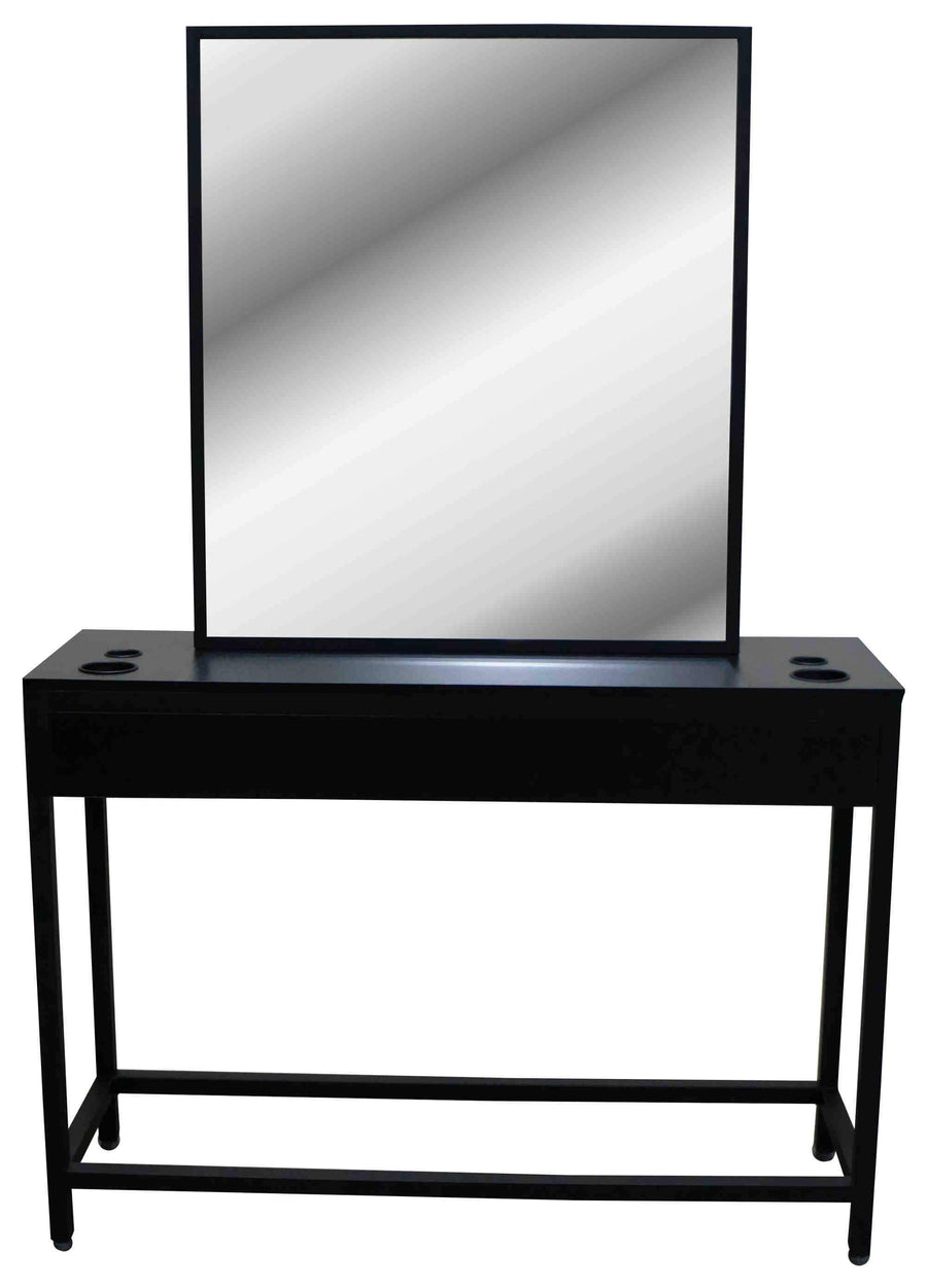 "Icarus ""Milford"" Black Salon Styling Station with Mirror Styling Stations & Cabinets Icarus"