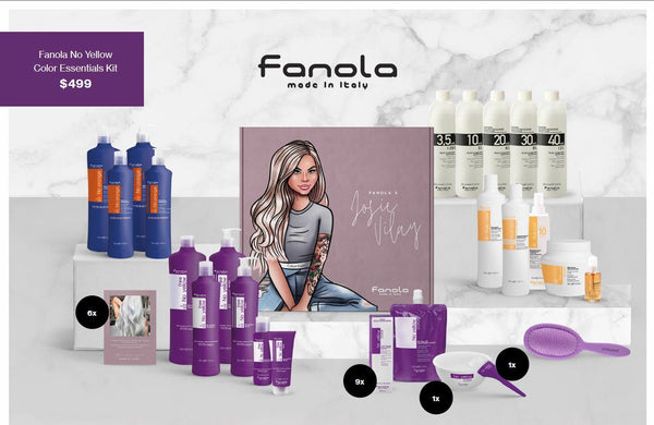 Josie Vilay x Fanola No Yellow Formula Box2 Hair Shampoos Fanola