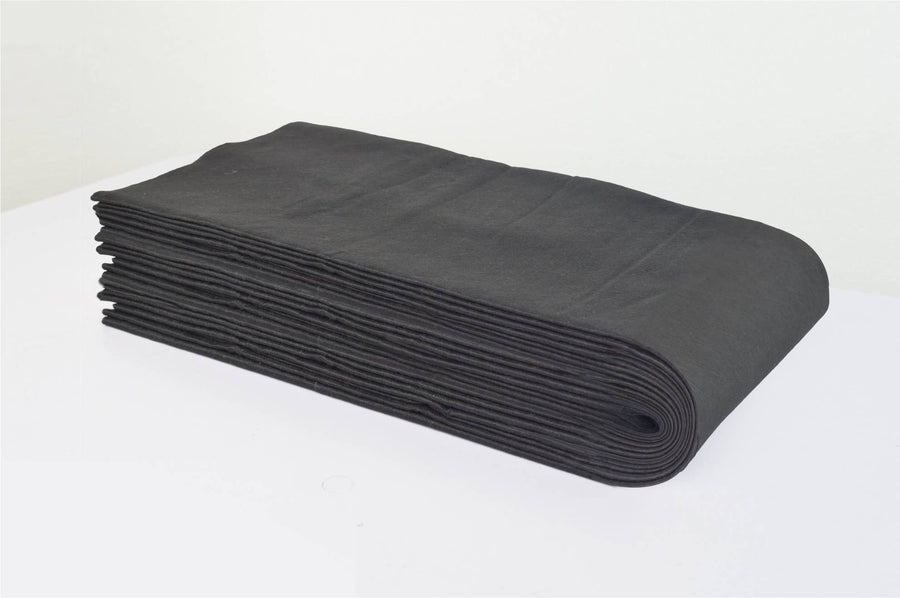 "Icarus Black Disposable Towel - 12"" x 27"", 50 Pack Towels Icarus"