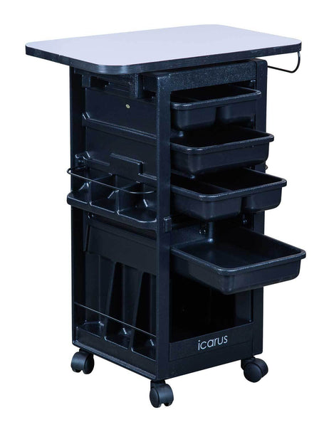 "Icarus ""Hawkeye"" Salon Trolley with Locking Doors With Table Top"