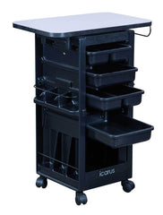 "Icarus ""Hawkeye"" Salon Trolley with Locking Doors With Table Top Trolleys Carts & Rollabouts Icarus"