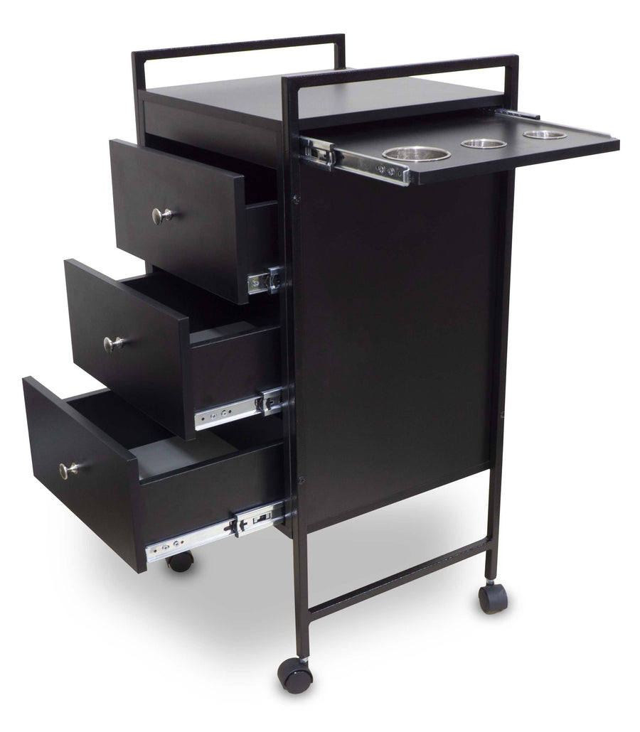 "Icarus ""Berwyn"" Beauty Salon Wooden Rolling Trolley Cart with Pull Out Tool Holder Trolleys Carts & Rollabouts Icarus"
