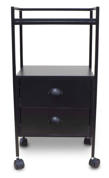 "Icarus ""Stanton"" Beauty Salon Wooden Rolling Trolley Cart 2 Drawers Trolleys Carts & Rollabouts Icarus"