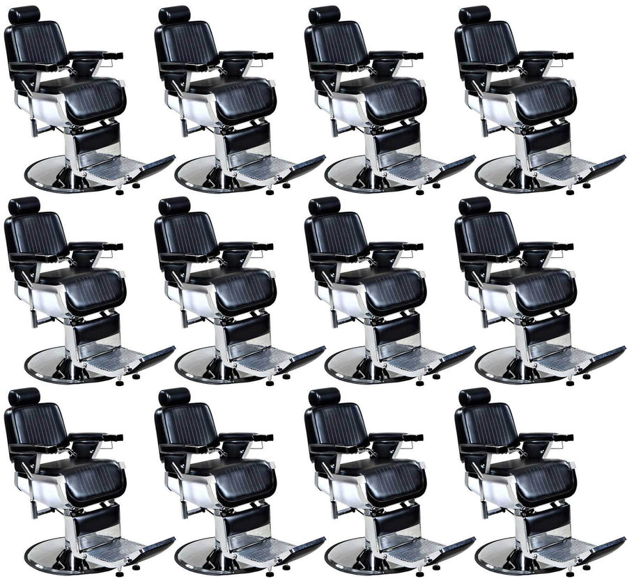 """Truman"" Vintage Reclining Salon Barber Chair Whats New Icarus 12"