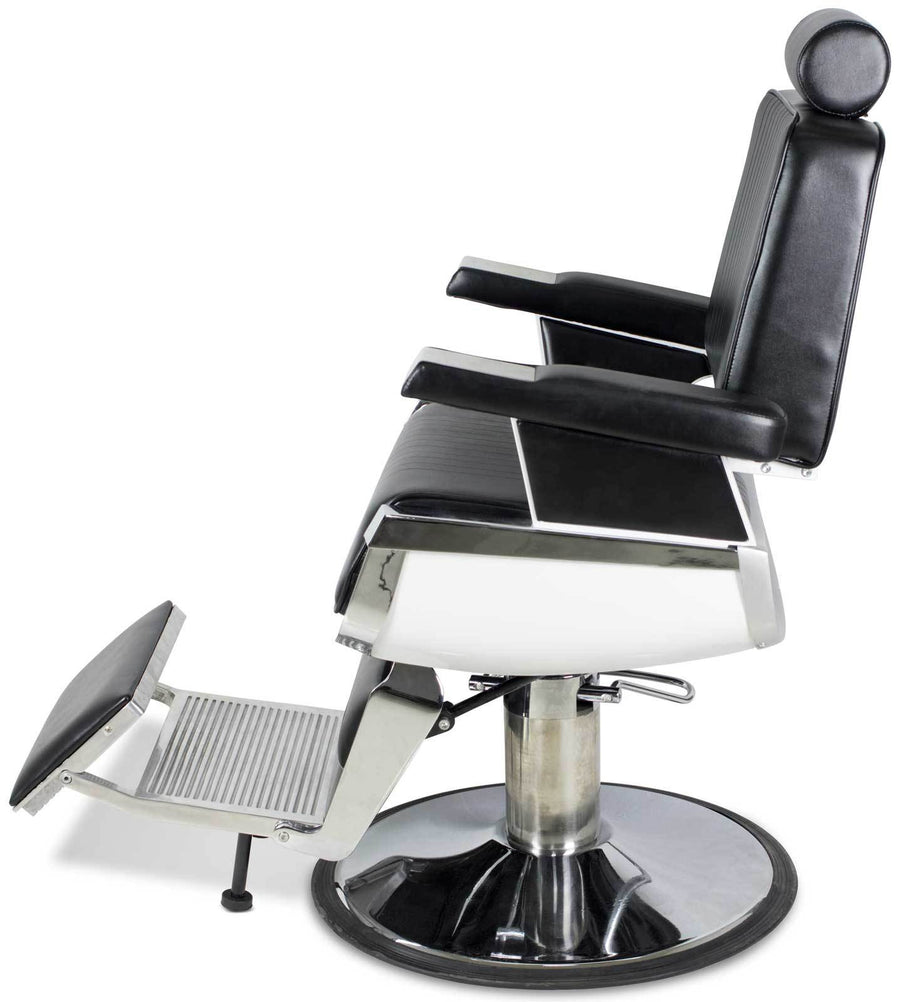 """Truman"" Vintage Reclining Hair Salon Barber Chair Barber Chairs Icarus"