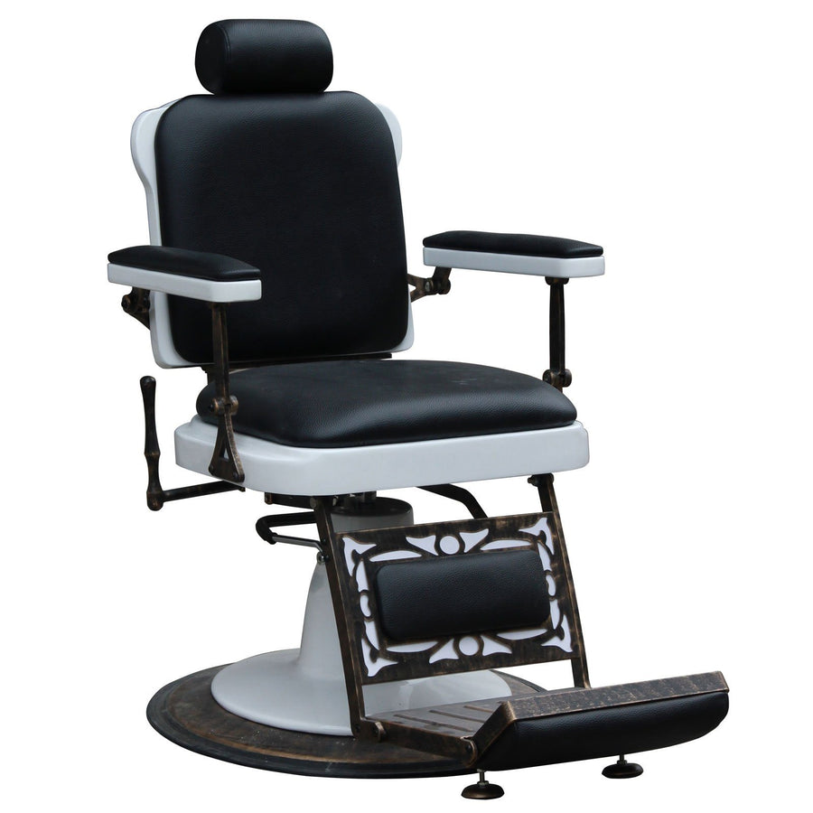 """Jefferson"" Vintage Reclining Hair Salon Barber Chair Barber Chairs Icarus Default Title"