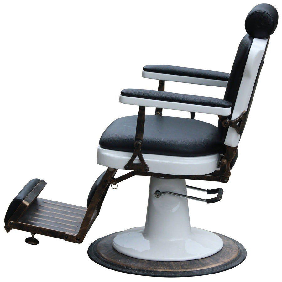 """Jefferson"" Vintage Reclining Hair Salon Barber Chair Barber Chairs Icarus"