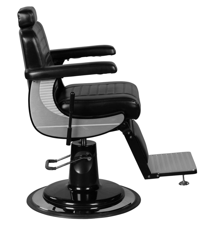 """Adam"" Modern Professional Reclining Extra Cushion Barber Chair Barber Chairs Icarus"