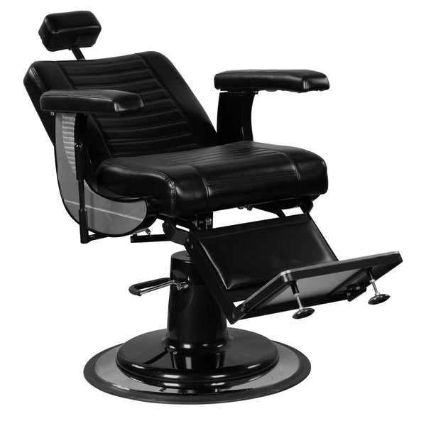 """Adam"" Modern Professional Reclining Extra Cushion Barber Chair"