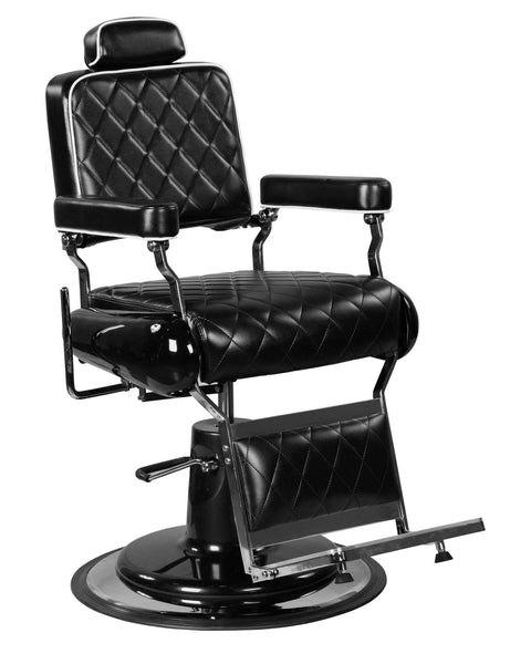"""Polk"" Professional Reclining Hair Salon Black Hydraulic Barber Chair"