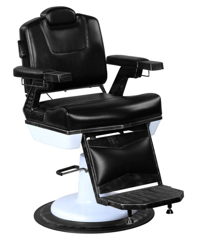 """Arthur"" Professional Reclining Vintage Barber Chair With Heavy Duty Base"
