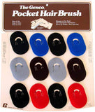 Genco Scalp Brush Display 12 piece - Assorted Colors Hair Brushes Genco Default Title