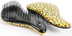 "Hair Tamer ""Ergo"" Detangling Hair Brush Teezer Hair Brushes Hair Tamer Leopard"