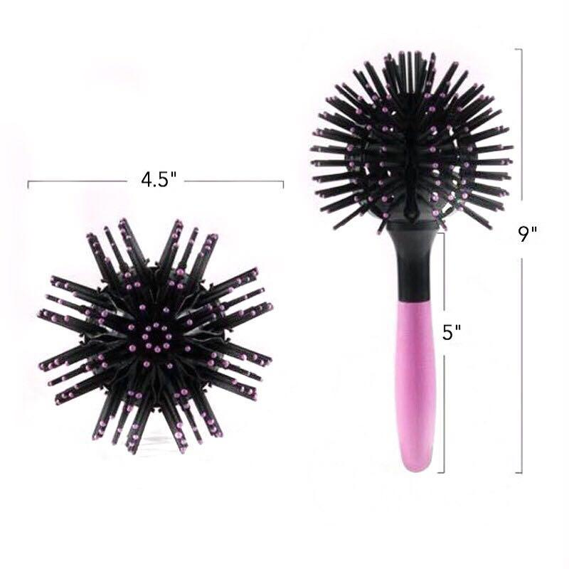 Hair Tamer Pink-Black Bomb Curl Brush Whats New Hair Tamer